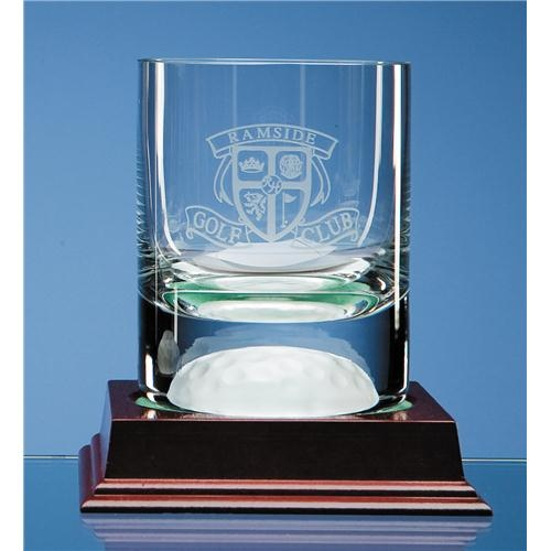 10oz Crystal Golf Ball Whisky Tumbler