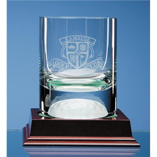 10oz Crystal Golf Ball Whisky Tumbler
