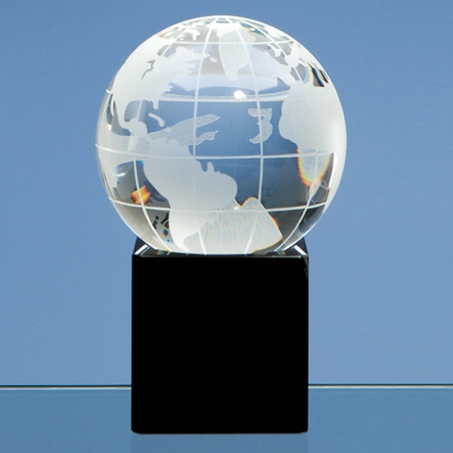 80 mm Optic Globe on Black Base