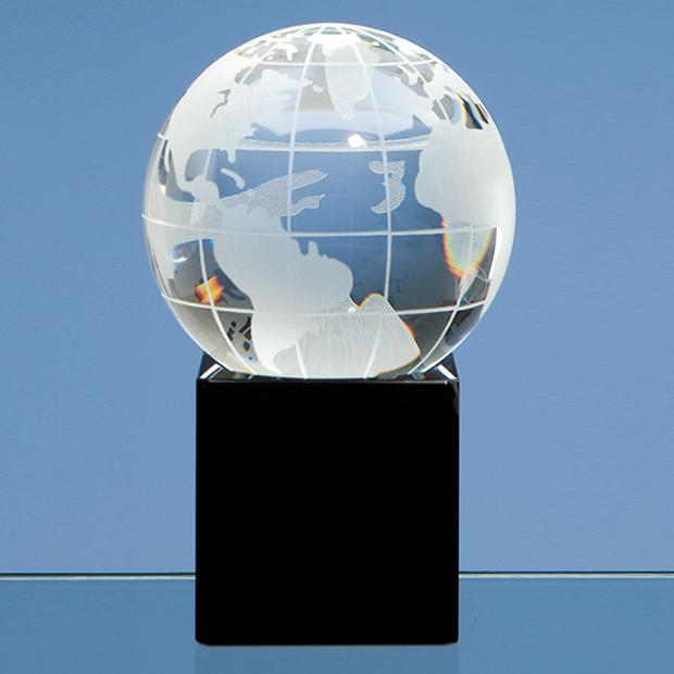 80 mm Optic Globe on Black Base