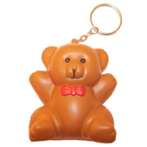 Bear Stress Toy Keyring