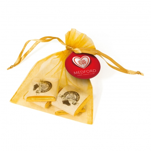 Neapolitan Chocolates in a Bag with Printed Tag