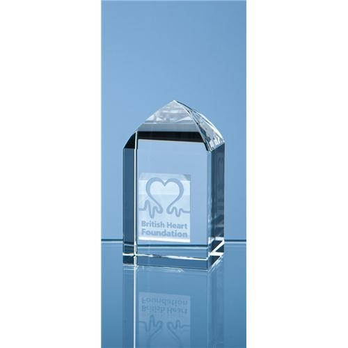 7.5cm Optical Crystal Mini Tower Rectangle
