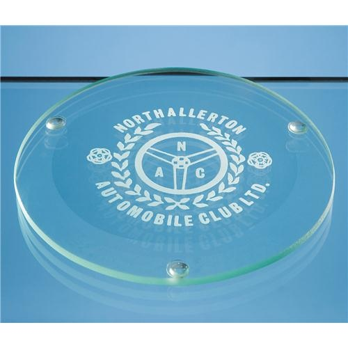 Jade Glass Round Coaster