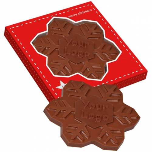 Chocolate Snowflake in a Box