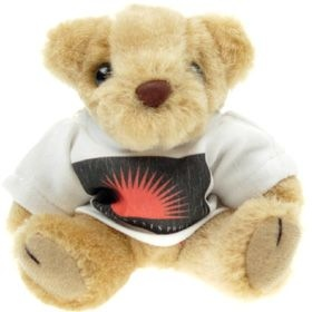 12.5 cm Honey Jointed Bear in a T-Shirt
