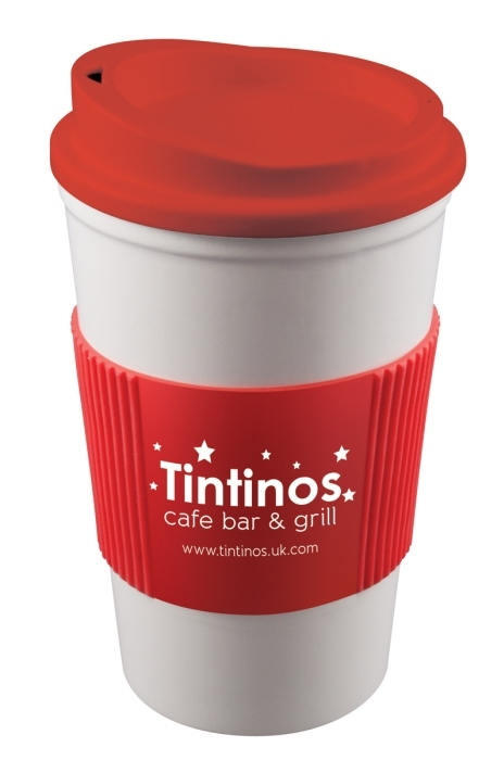 Americano Mug with Coloured Lid