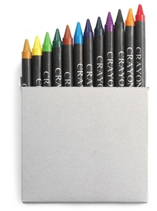 Crayon Set In A Card Box