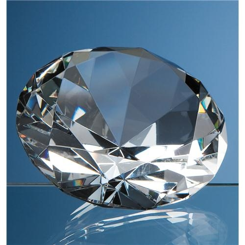 10cm Optical Crystal Diamond Paperweight