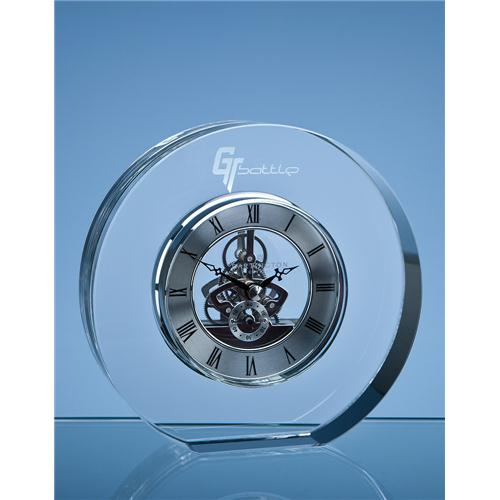 15cm Dartington Crystal Round Clock