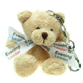 10 cm Toby Keyring Bear with Bow