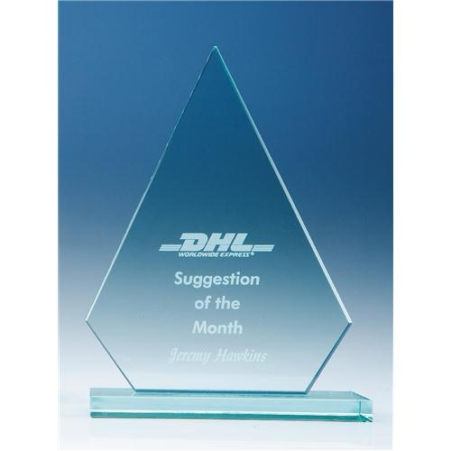 190mm Peak, 12 mm Jade Glass Award