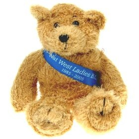 18 cm Scruffy Beanie Bear with Sash