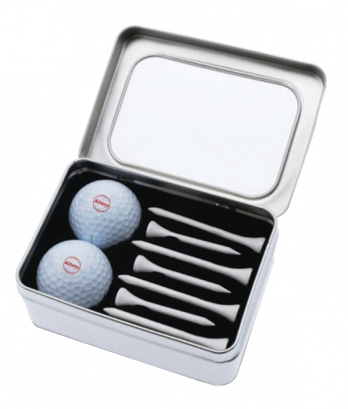 Malaga Two Ball and Tee Tin