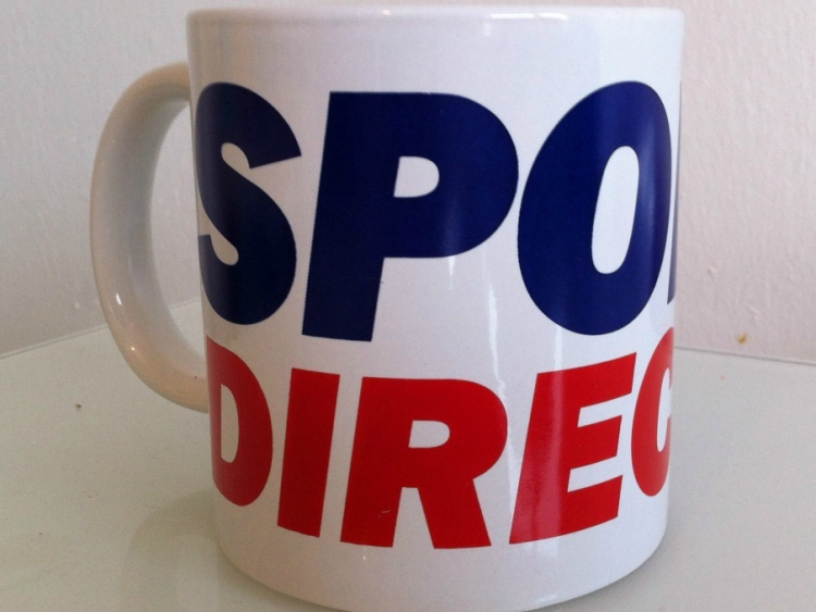 Promotional Mugs from Sports Direct Set a Good Example in Simple Branding #CleverPromoGifts
