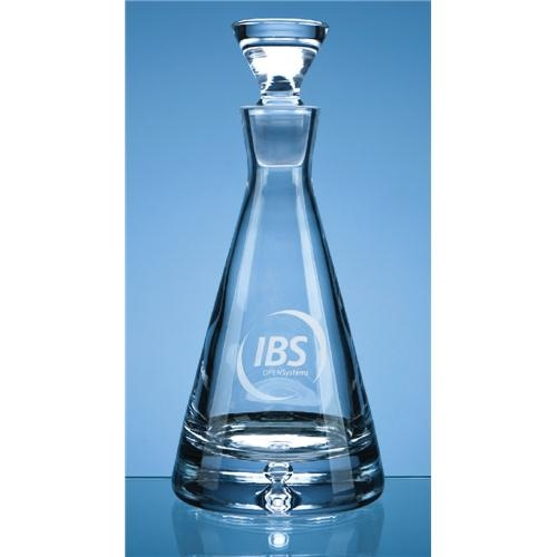 Crystal Bubble Base Pyramid Decanter