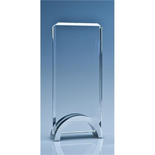 20cm Optical Crystal Rectangle mounted On An Aluminium Stand