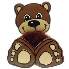 Fun Brown Bear Logo Bug