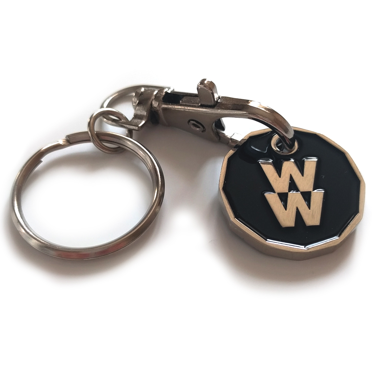 New Pound Coin Trolley Token Keyring