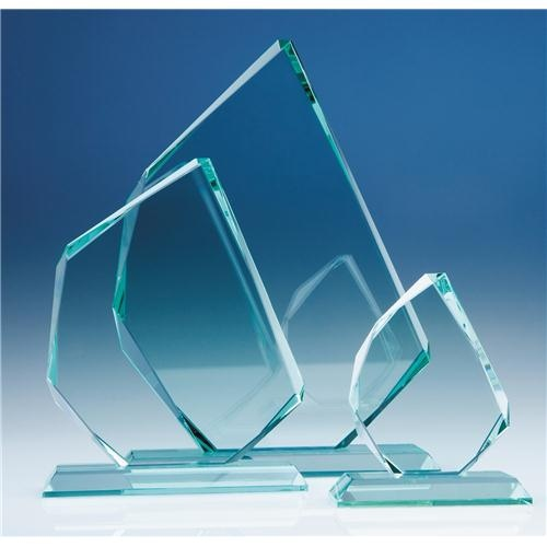 28cm x 15 mm Jade Glass Facetted Ice Peak Award
