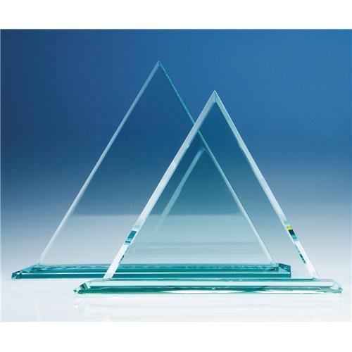 27cm Jade Glass Pyramid Award