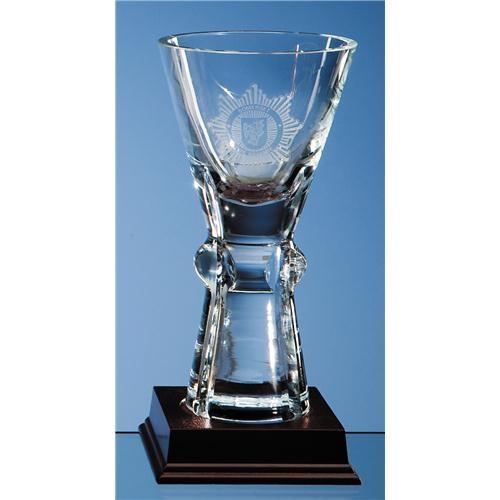 19cm Crystal Trophy Vase