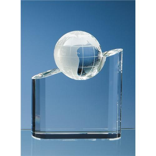 "7"" x 6"" x 2"" Optic Globe Award"