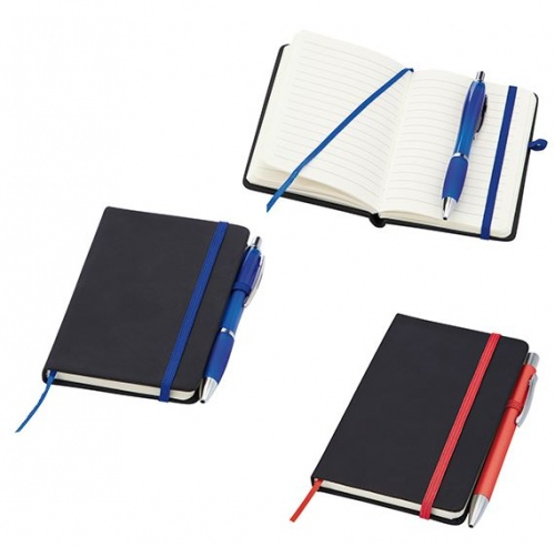 Hardbacked Soft-Feel Noir Notebook Reno
