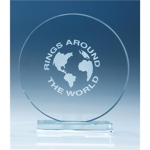15cm Clear Circle Award