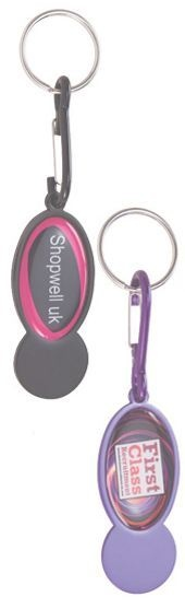 Shopper Trolley Coin Keyring