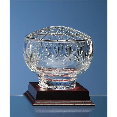 "5"" Lead Crystal Panel Rose Bowl"