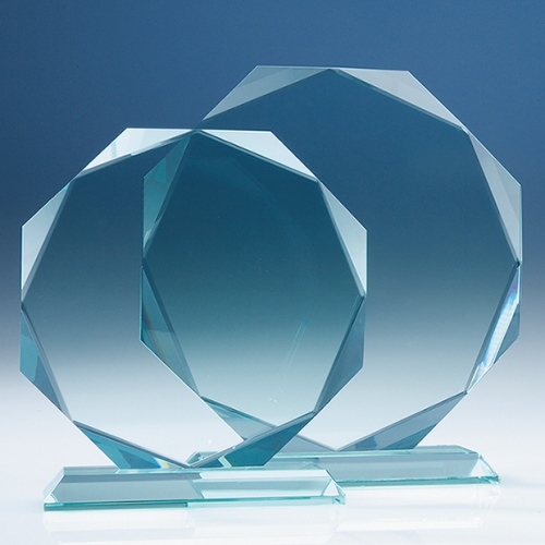 "6"" Facet Octagon, 15 mm Jade Glass"