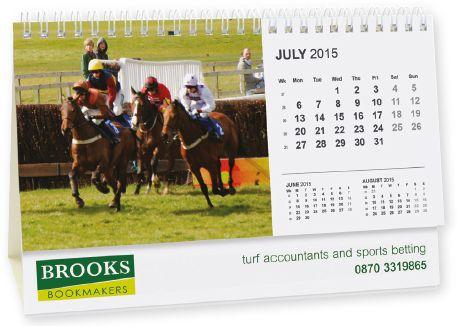 Panorama Easel Desk Calendar