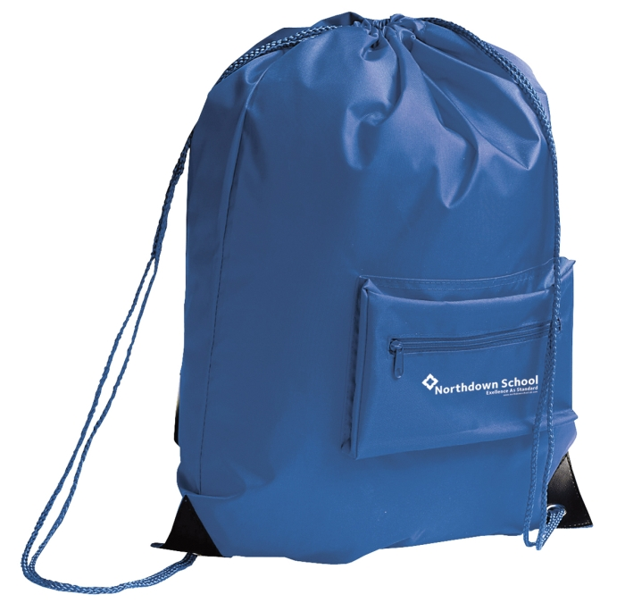 Drawstring Bag with Pocket