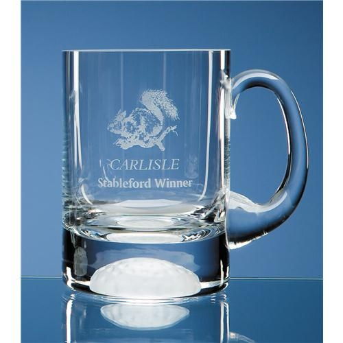 1pt Crystal Golf Ball Tankard
