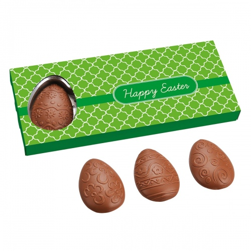 Four Flat Chocolate Eggs