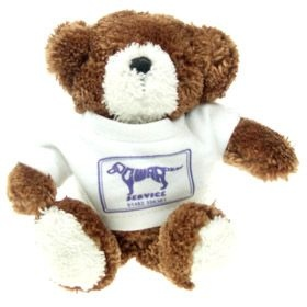 15 cm Jimbo Beanie Bear in a T-Shirt