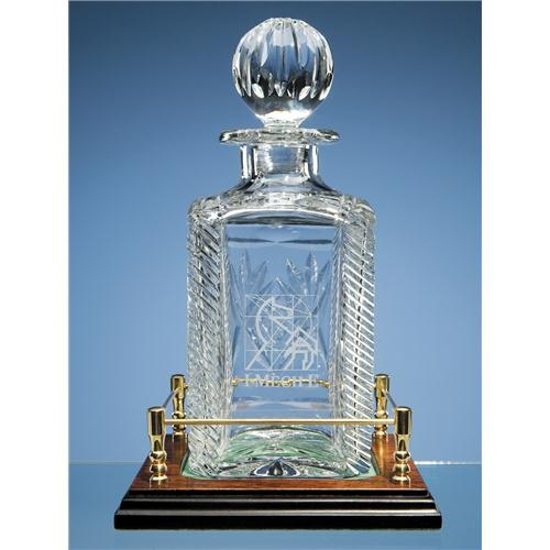 Shire Crystal Square Spirit Decanter