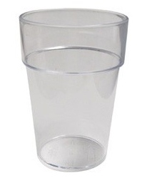 Half Pint Plastic Glass