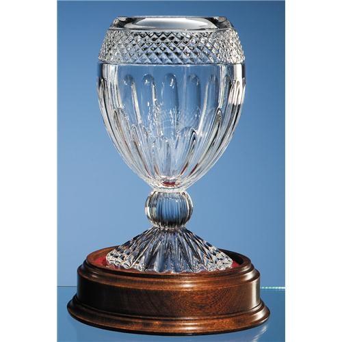 25.5 Mario Cioni Lead Crystal Orphos Vase