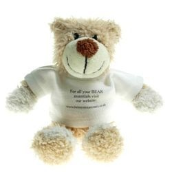 16 cm Wally Jointed Bear in a T-Shirt
