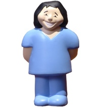 Female Nurse Stress Toy