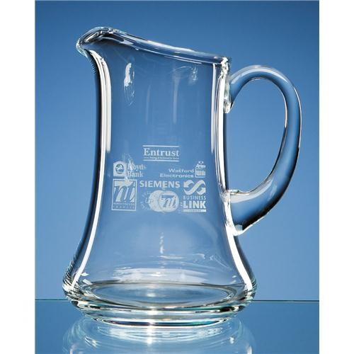 2pt Lead Crystal Ice Lip Water Jug