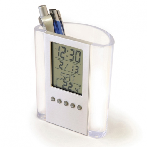Erme Plus Clock And Pen Pot