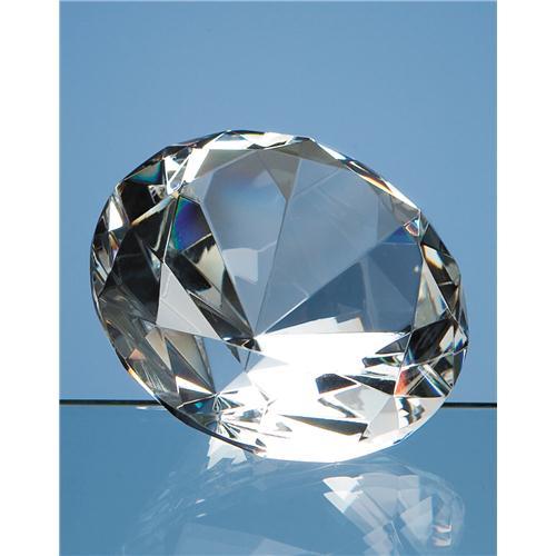 8cm Optic Diamond Paperweight