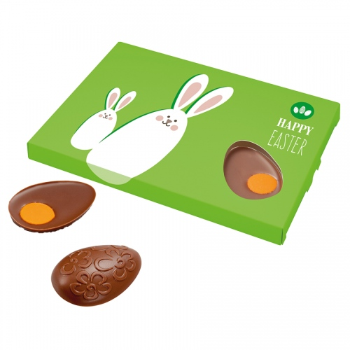 6 Easter Eggs with Orange Yolk