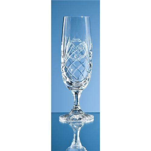 Durham Lead Crystal Panel Champagne Flute