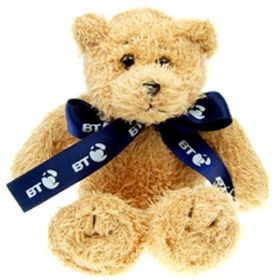 18 cm Scruffy Beanie Bear with Bow