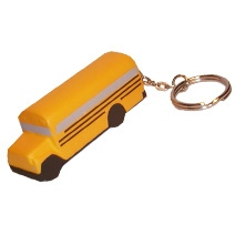 Orange Bus Keyring Stress Toy