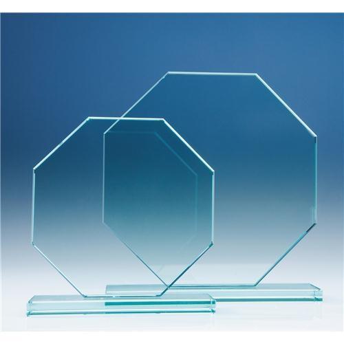 200 mm Octagon, 12 mm Jade Glass Award